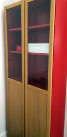 Billy bookcase with two glass doors