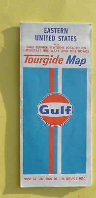 1973 Eastern United States road map Gulf oil stations