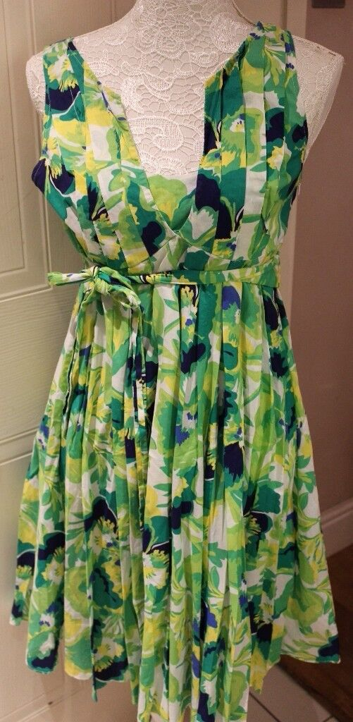 Warehouse ladies dress all over floral print UK 10