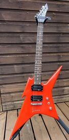 REDUCED - RARE B C RICH IRONBIRD 1 GUITAR – CUSTOM FINISHED IN RED – SUPERB CONDITION