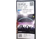 Coldplay live Sunday 19th June-pick up single ticket today!