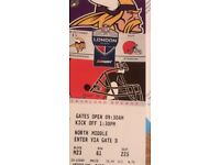 4x NFL Tickets Minesota Vickings vs Cleveland Browns