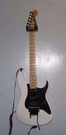 White Jackson SDX Adrian Smith Signature Electric Guitar With Hard Case