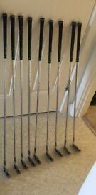 Ping i3 golf club irons.