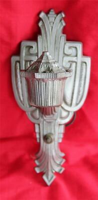 Riddle & Co. Cast Aluminum Art Deco Wall Sconce Light Lamp Single # 1724 Vintage