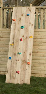 8ft Wooden Rock wall FOR Climbing Frame tree house play