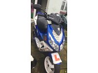 Blue Peugeot Speedfight for spares and repairs