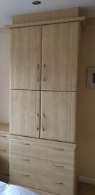 Bedroom TV unit, cupboard & drawers by Hammonds