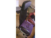 high back office chair, Ikea Markus, Manchester m144l
