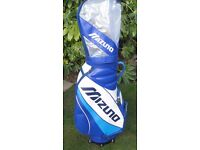 Mizuno Golf Trolley Tour Cart Bag With top rain cover . In very good clean condition.