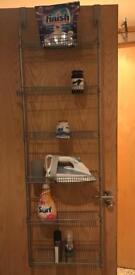 Storage Shelves,Six Individual Trays And Two Bars For Hanging Behind The Door