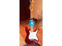 Korean Squier Strat 1998 upgraded & Fender gig bag