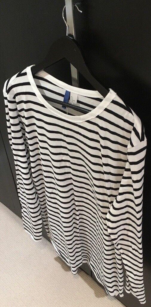 8138c086 H&M Striped Long Sleeve Top (Not Kanye, Boost, Yeezy, Supreme, Stone  Island, BAPE, Palace, Gosha)