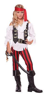 Posh Pirate Buccaneer Child Girls Costume (Pirate Costumes For Girls)