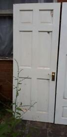"Wood door six panel 30 x 77.75"" Chapeltown, Sheffield collection"