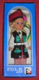 Vintage 'Folk Art' Doll (30cm, new)