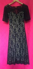 Monsoon Dress, Navy Blue, Size 10, Immaculate Condition, Worn Only nce