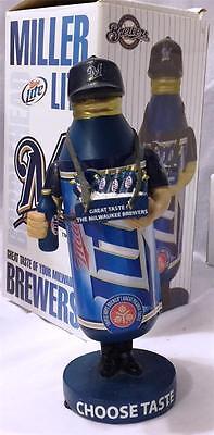 2011 MILWAUKEE BREWERS MILLER LIGHT PINT BEER VENDOR SGA BOBBLEHEAD (Beer Vendor)