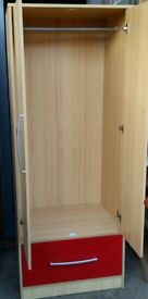 double wardrobe with drawer. 180cm x 70cm. In excellent condition.