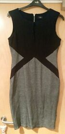 Black and grey bodycon style dress size 14