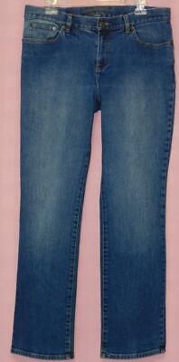 Ralph Lauren Denim Blue Jeans Straight Leg Stretch Ladies Size 12 Inseam 31