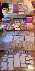 Massive Craft Bundle - 12x12 Card Packs, Card Blanks, Ink,Stamps,Punches-Sensible Offers Considered!