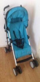 Hauck blue Travel System Single Seat Stroller