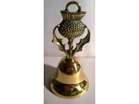 brass scottish thistle bell