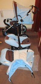 Hauck Traxx Pram /puschair & car seat