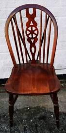 1 Oak Vaneered Wheel Back Chair