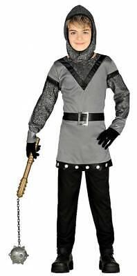 Ritter Kostüm für Jungen silber-schwarz-grau für Kinder - Silber Ritter Kinder Kostüm