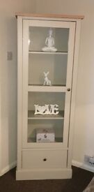 Shabby Chic modern display cabinet and TV Cabinet with wood tops