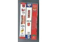 3 ARSENAL VHS VIDEOS / 1989/90 1995.96 1997/98