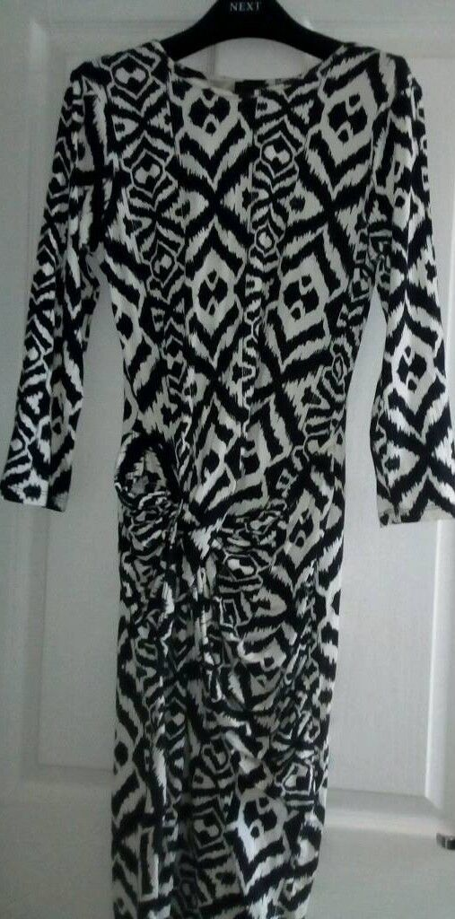 Tribal Patterned Bodycon River Island Size 12 Dress In Hayle