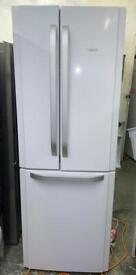 HOTPOINT white American style fridge freezer brand new 1 year warranty