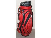 Wilson Staff I-Lock golf bag trolley bag with strap raincover VGC