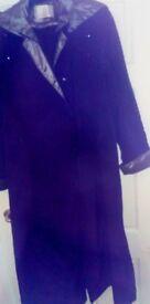 Jaques Vert Long Navy Blue Coat