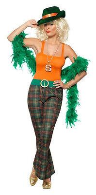 Pimpette Adult Lady Pimp 70's Disco Womens Costume Size Large