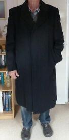 Mens Dark Overcoat - Cashmere Blend