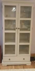 Glass Door Cream Bookshelf