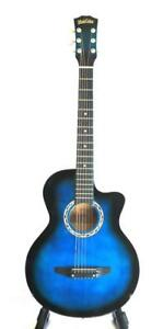 Glamorous High Gloss Blue Acoustic Guitar For Beginners iMusic806 Blue
