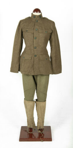 WWI US army uniforms Original (jacket, trousers, and spats)