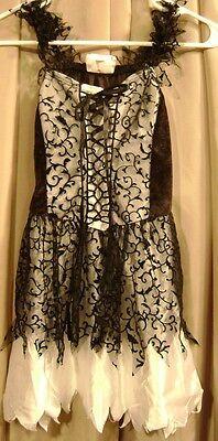 Girl Dress Up Halloween Costume Tween L Large 12 14 Black White EUC Pretty](Pretty Tween Girl)