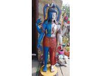 Rare Hand Carved Nepalese Wooden Shiva Shakti Statue