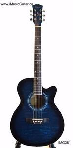 Scratch-Acoustic Guitars Canada for Beginners 40 inch Full Size iMG381 Blue
