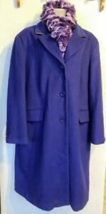 PLUS 18 20 22W NEW JESSICA PURPLE Wool Coat Long Jacket Winter Classic Style XL 2X XXL 48 50 52 Chest