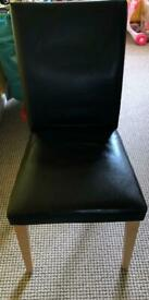 4 leatherette look chairs