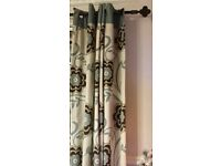 2 pairs of fully lined NEXT eyelet curtains