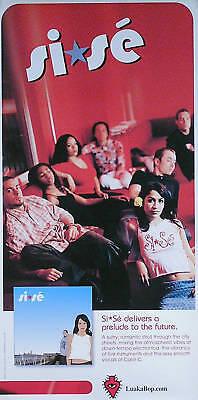 SI*SE 2001 Self Titled Debut Album Original Promo Poster