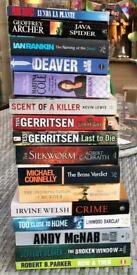 MANY CRIME/THRILLER PAPERBACK BOOKS. 50p EACH OR 3 FOR £1.